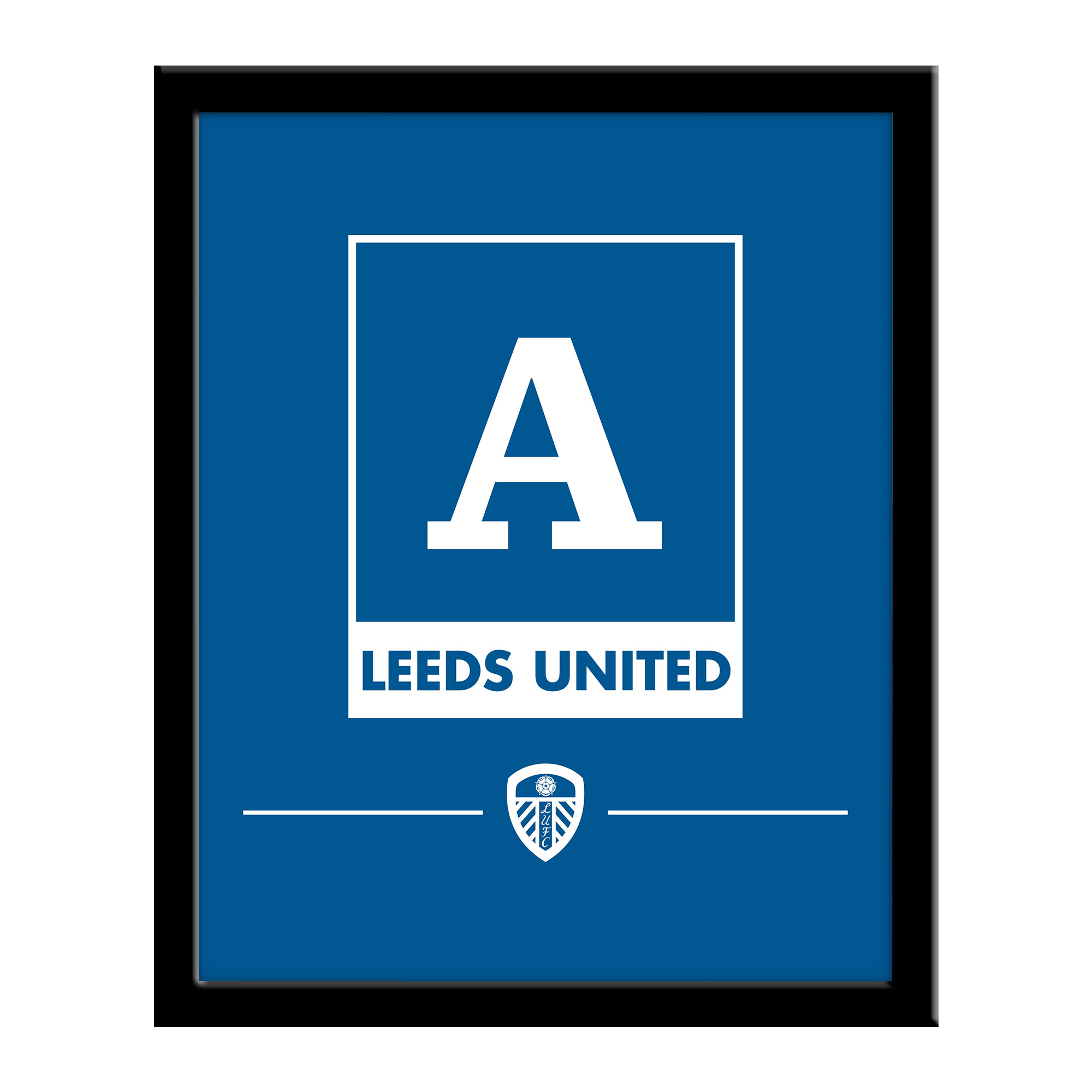 Leeds United FC Monogram 290 x 360 Framed Print