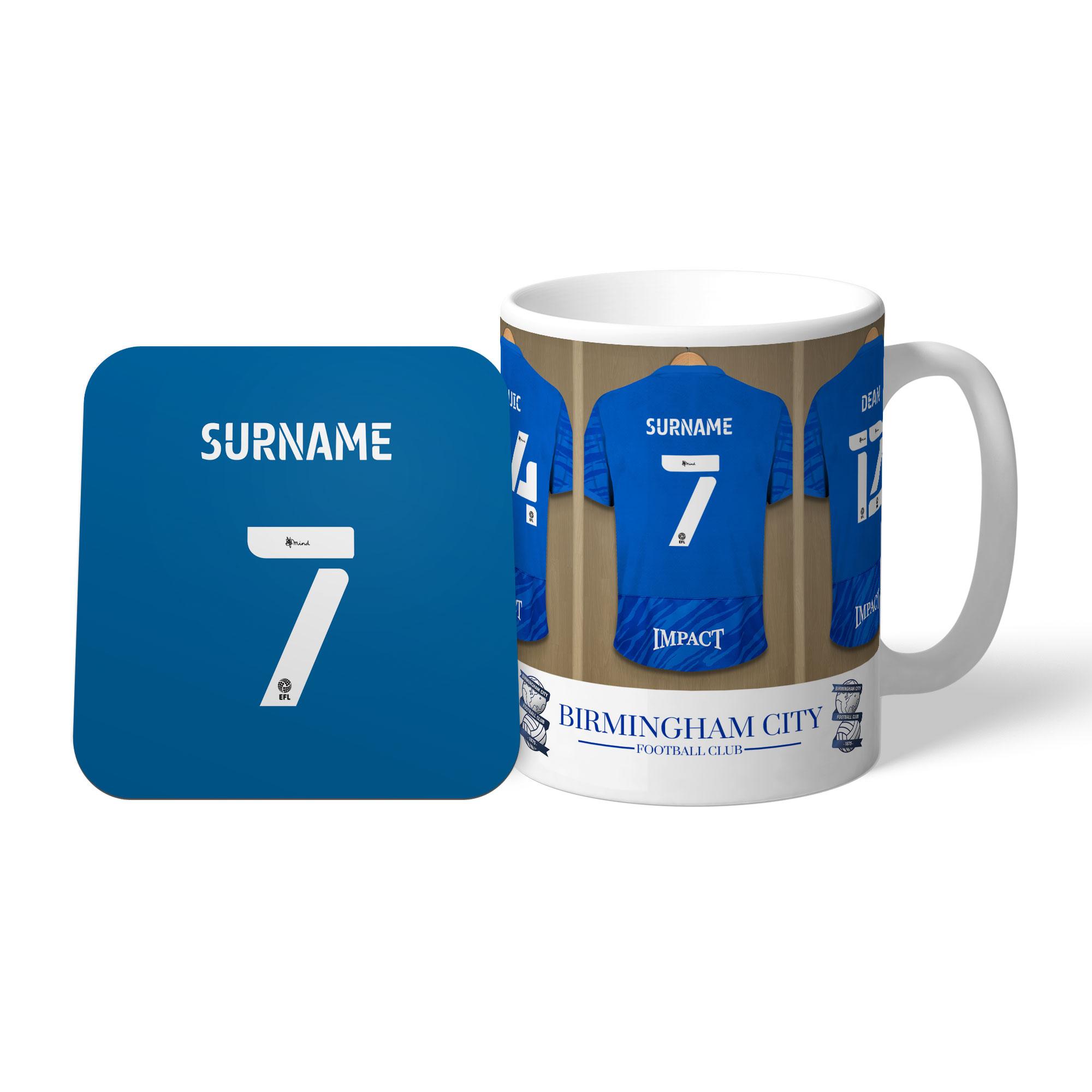 Birmingham City FC Dressing Room Mug & Coaster Set