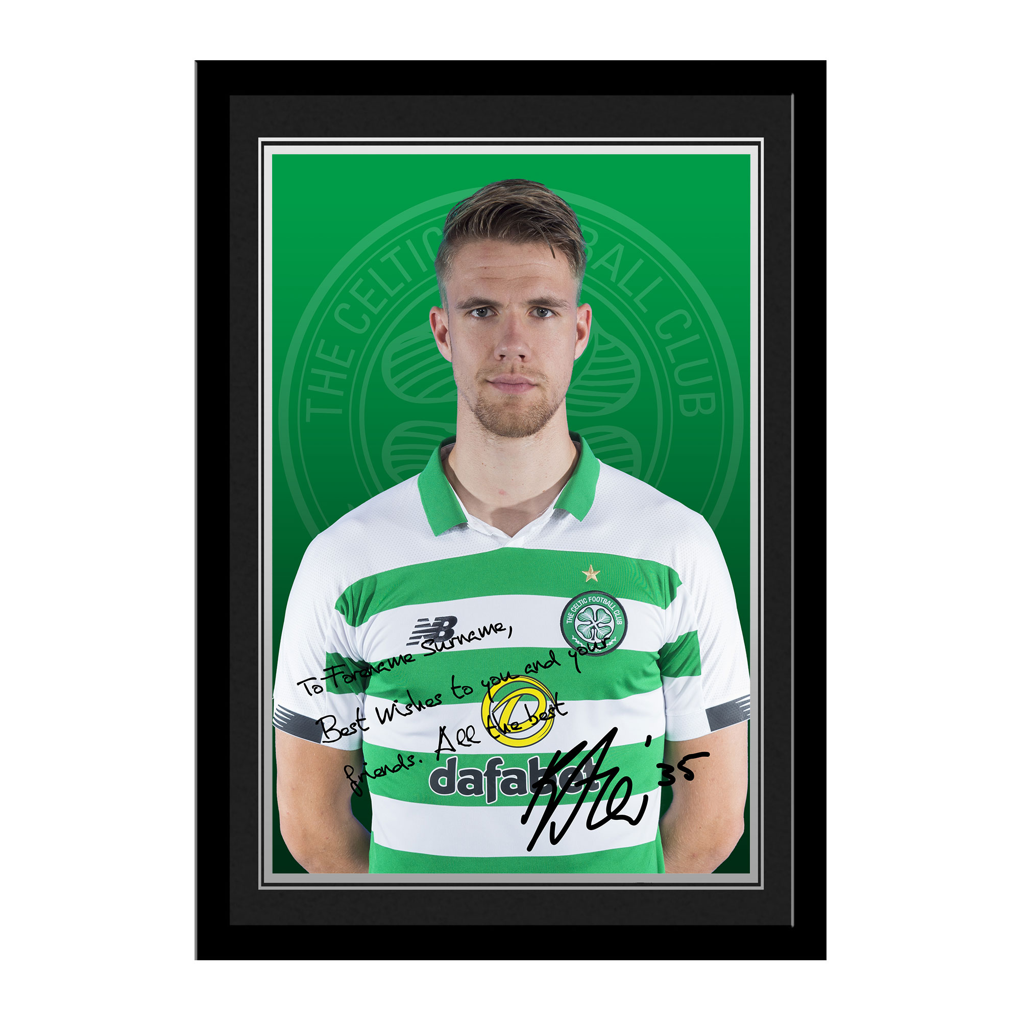 Celtic FC Ajer Autograph Photo Framed