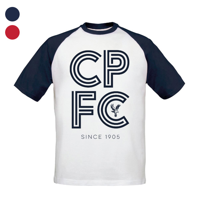 Crystal Palace FC Stripe Baseball T-Shirt