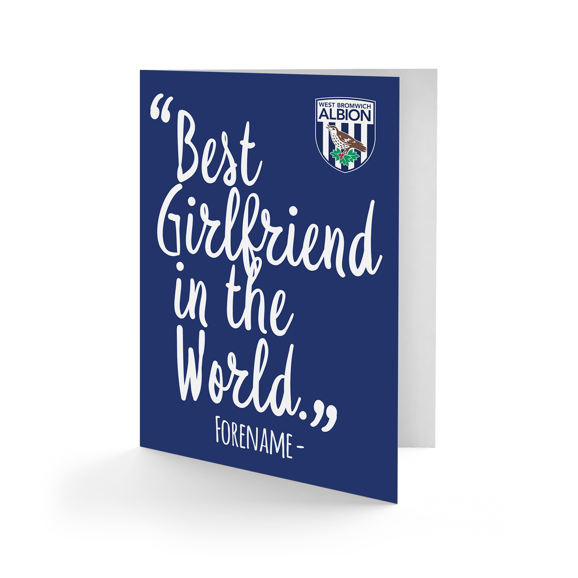 West Bromwich Albion FC Best Girfriend In The World Card
