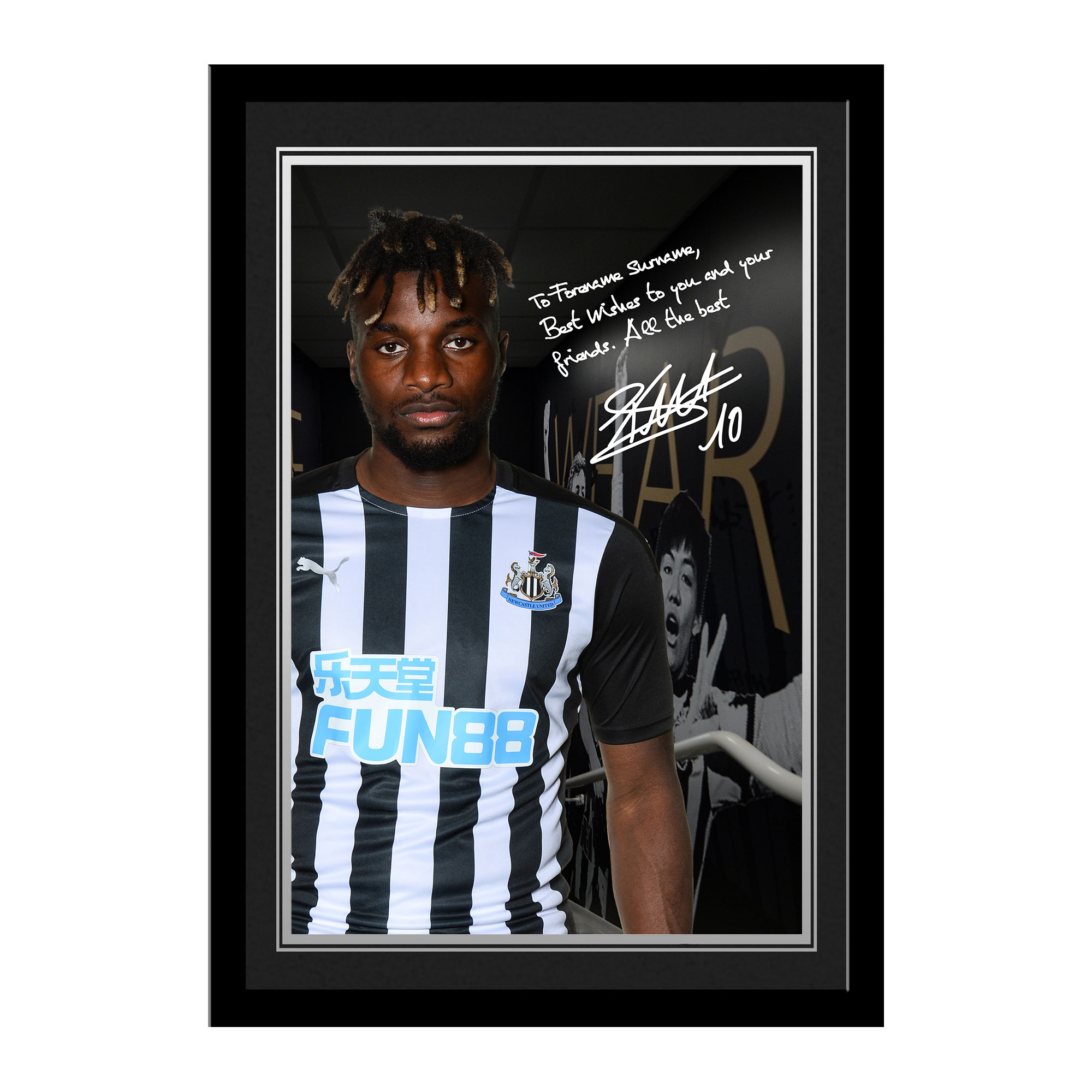 Newcastle United FC Saint-Maximin Autograph Photo Framed