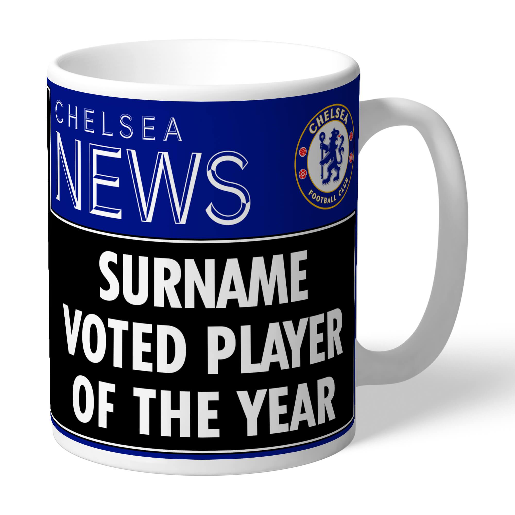 Chelsea FC Player of the Year Headline Mug