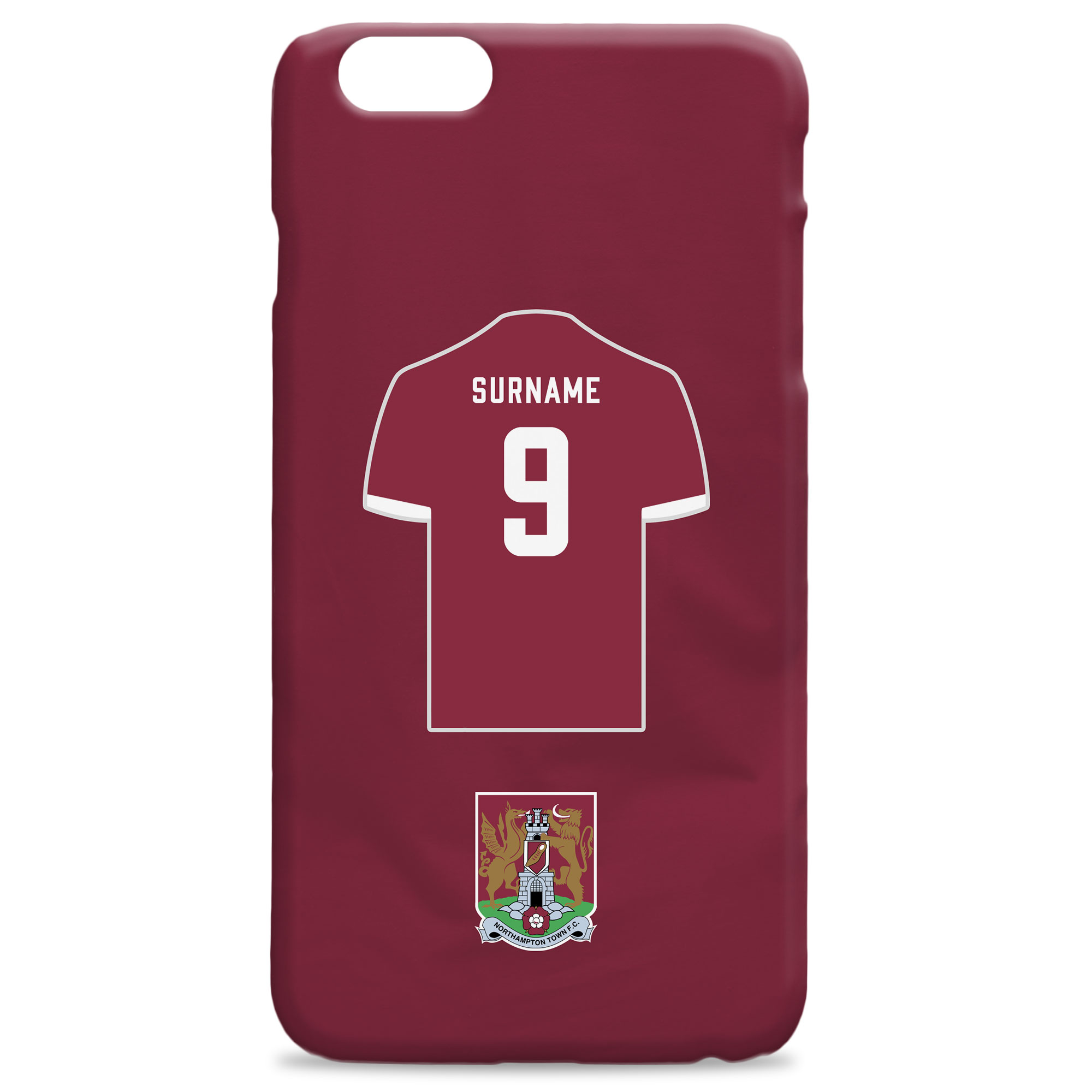 Northampton Town FC Shirt Hard Back Phone Case