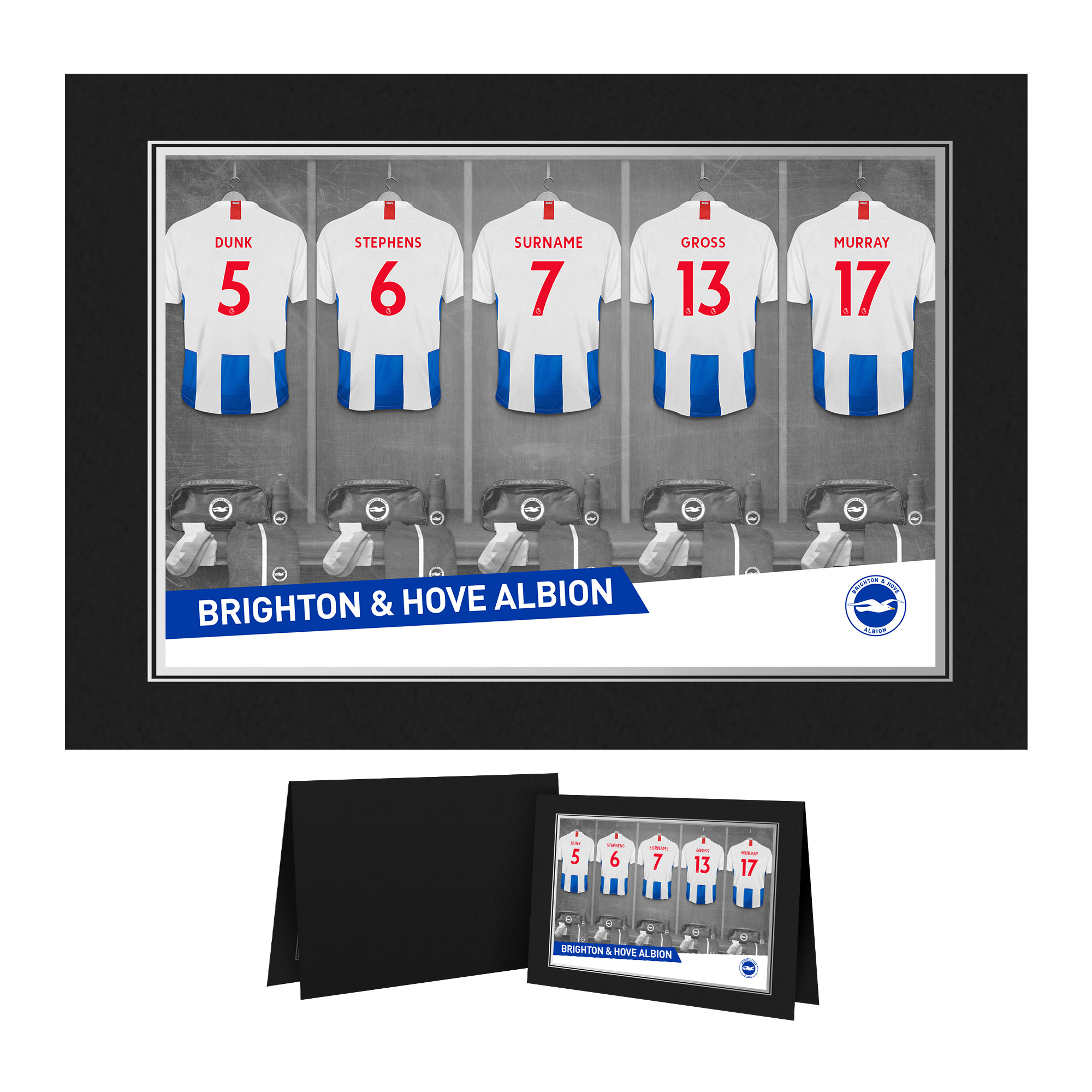 Brighton & Hove Albion FC 9x6 Dressing Room Photo Folder
