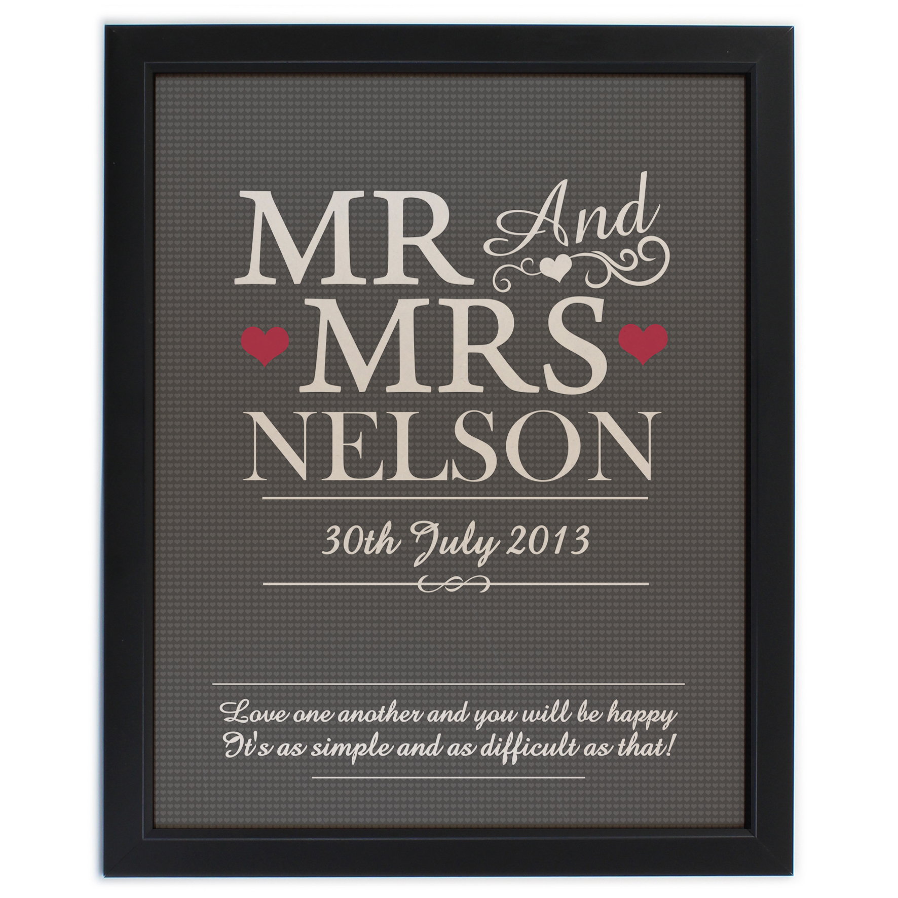 Personalised Mr & Mrs Framed Print