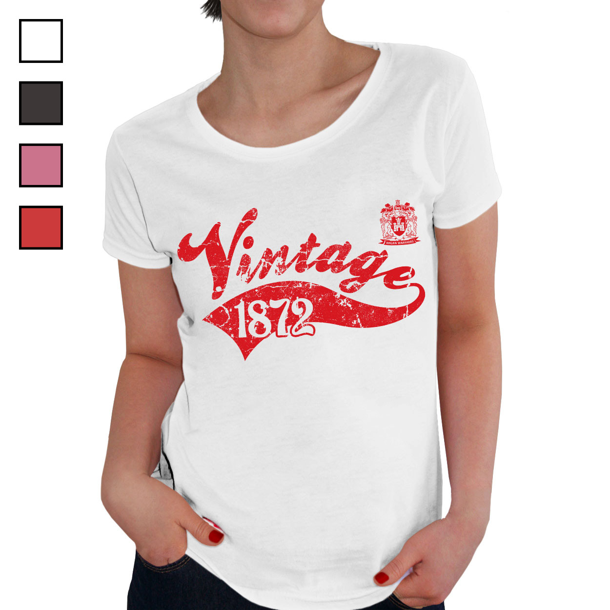 Wigan Warriors Ladies Vintage T-Shirt