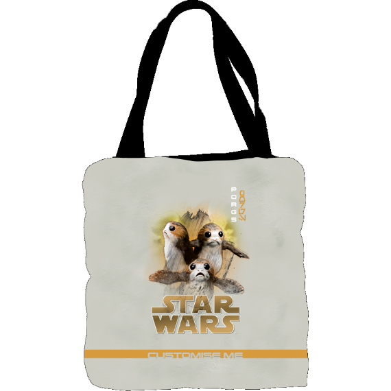 Star Wars Porg Last Jedi Spray Paint Tote Bag