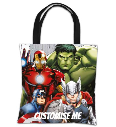 Marvel Avengers Assemble Group Scene Tote Bag