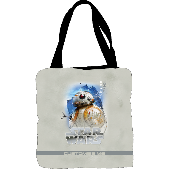 Star Wars BB-8 Last Jedi Spray Paint Tote Bag