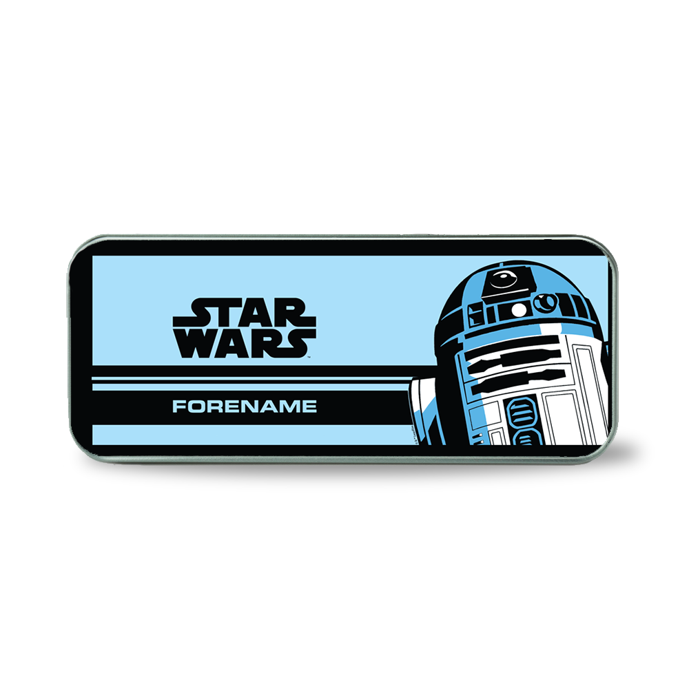 Star Wars R2 D2 Pop Art Silver Pencil Tin
