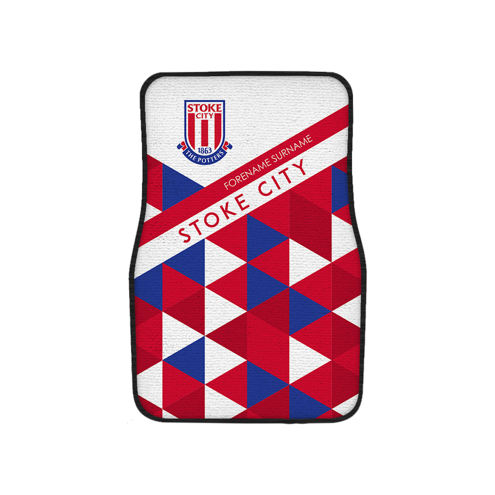 Stoke City FC Patterned Front Car Mat