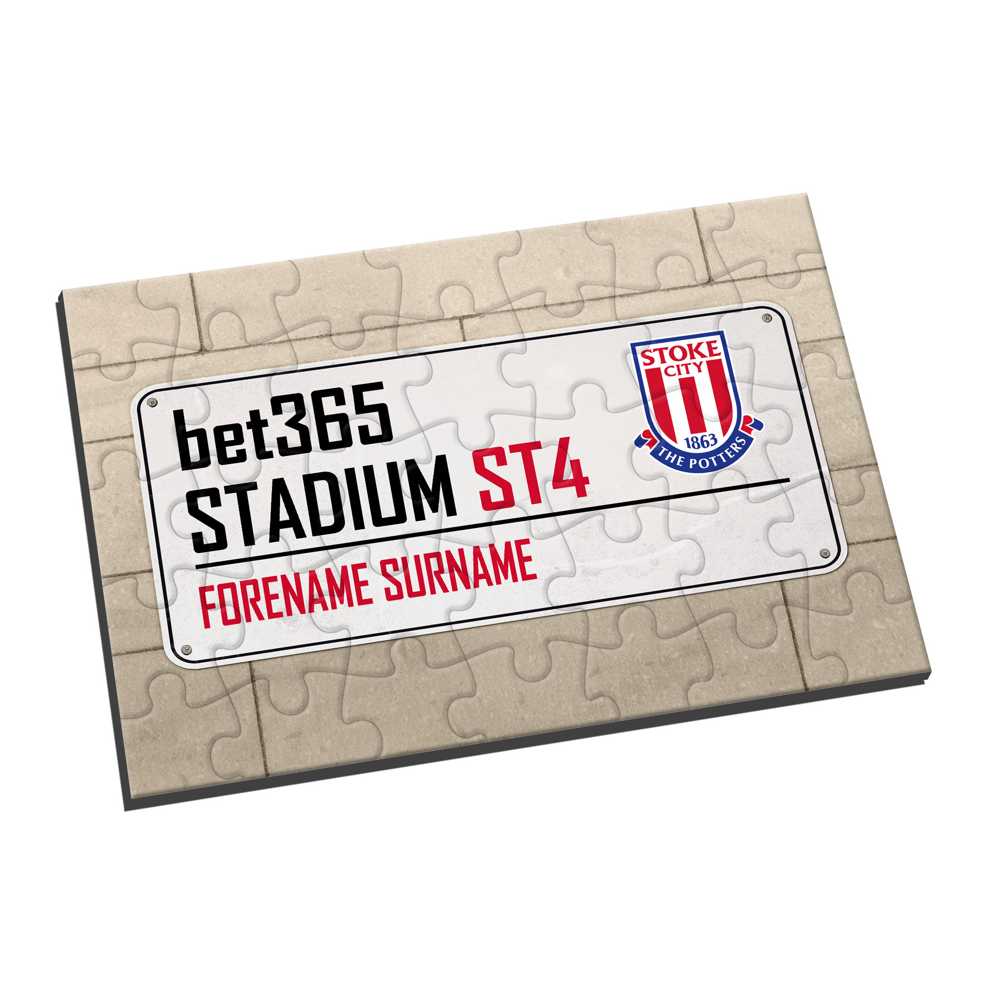 Stoke City FC Street Sign Jigsaw