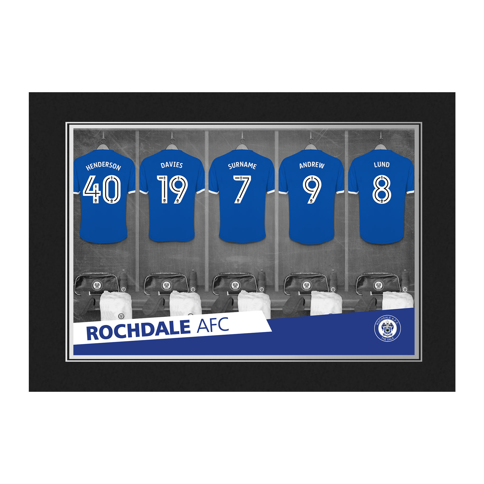 Rochdale AFC 9x6 Dressing Room Photo Folder