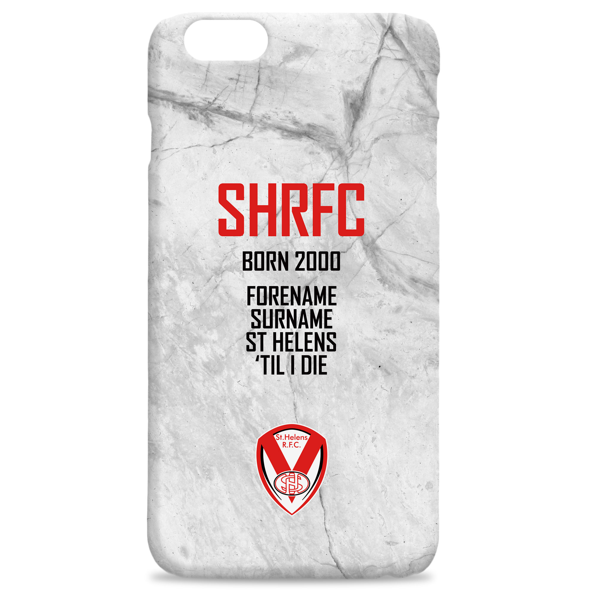 St Helens 'Til I Die Hard Back Phone Case