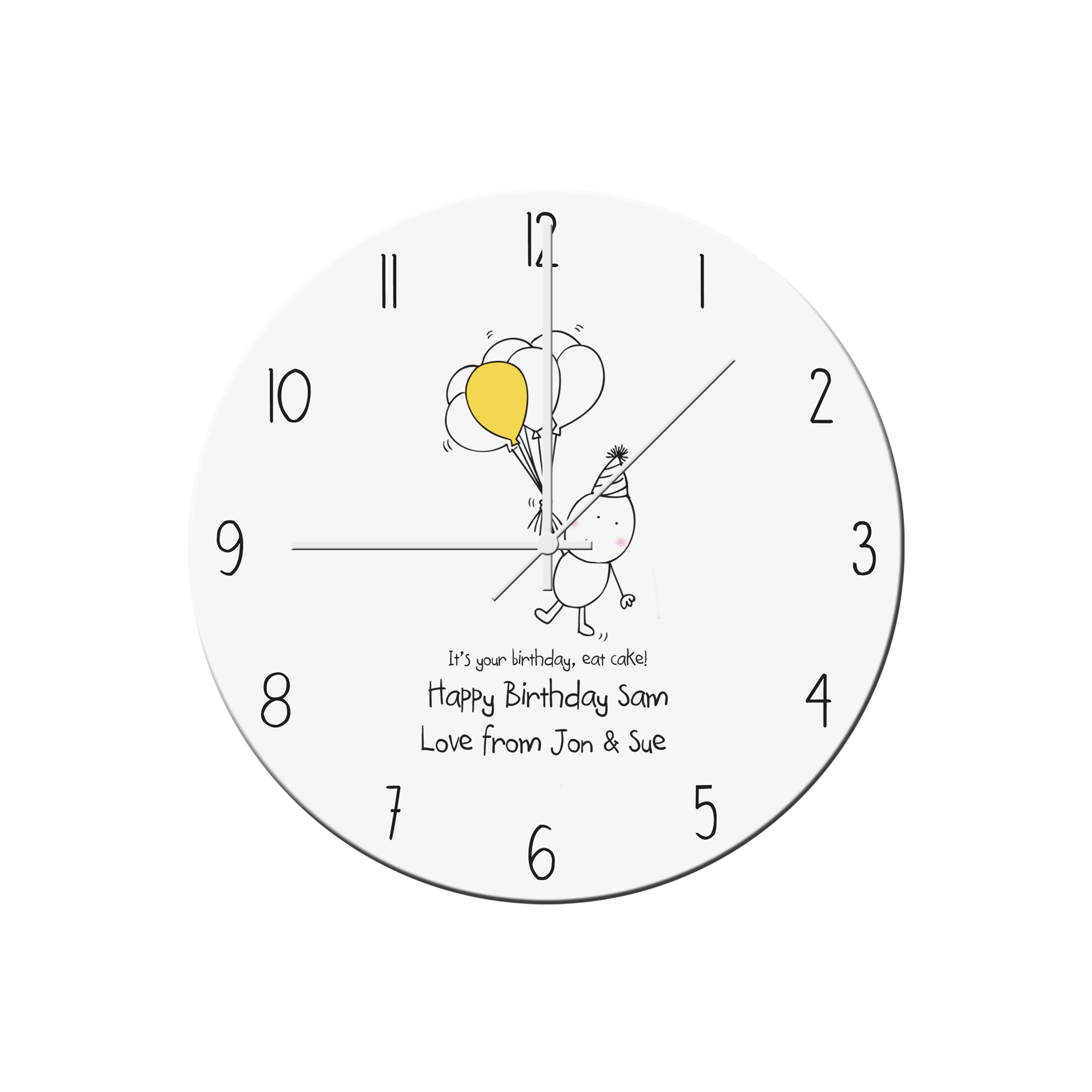 Chilli and Bubbles Birthday Clock