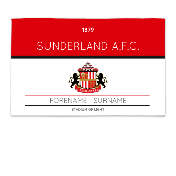 Sunderland Minimal Ticket 8ft x 5ft Banner