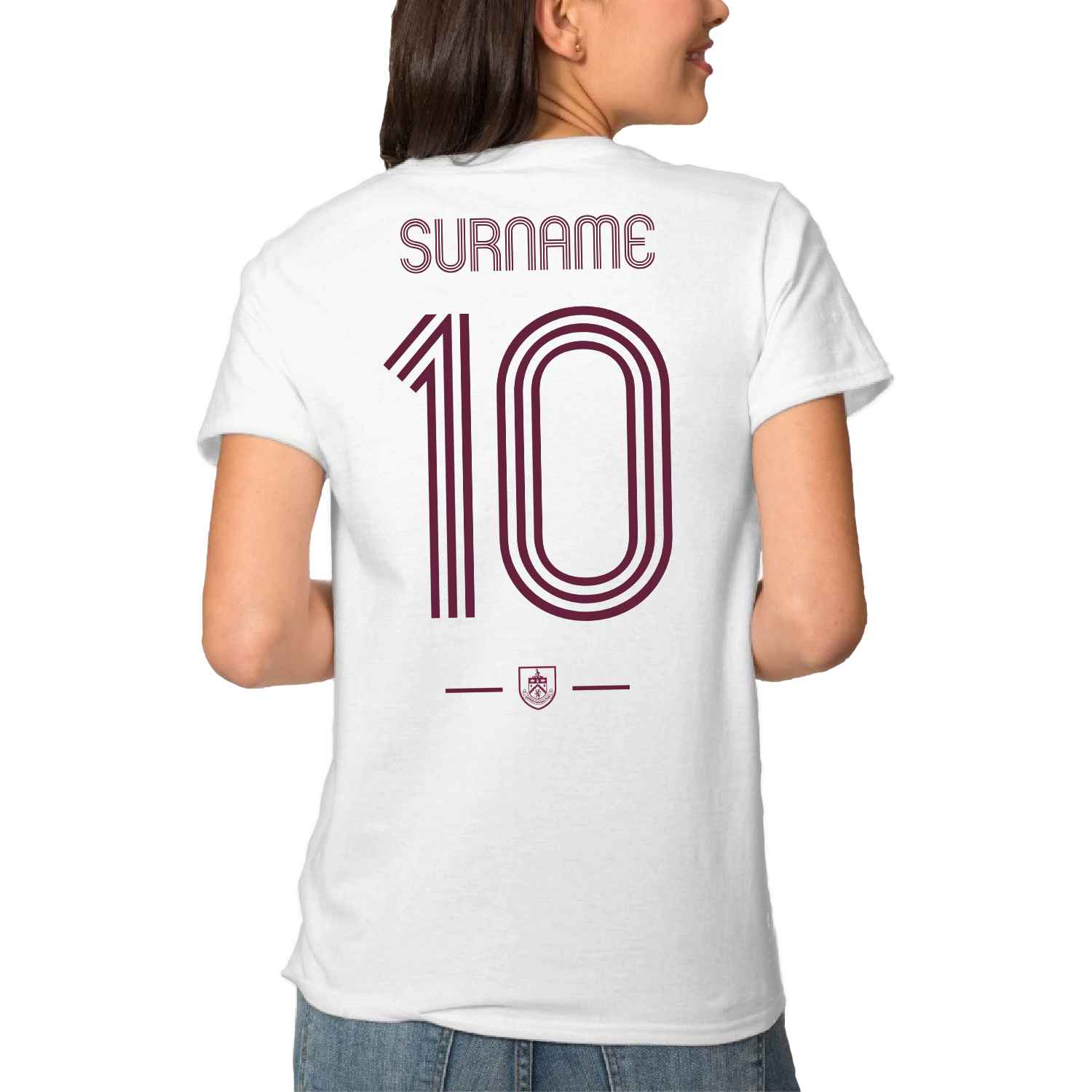Burnley FC Retro Shirt Ladies T-Shirt