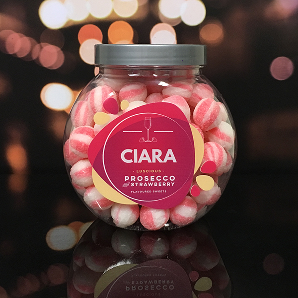 Prosecco & Strawberry Sweet Jar - New