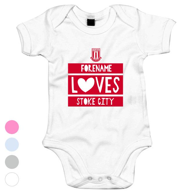 Stoke City Loves Baby Bodysuit