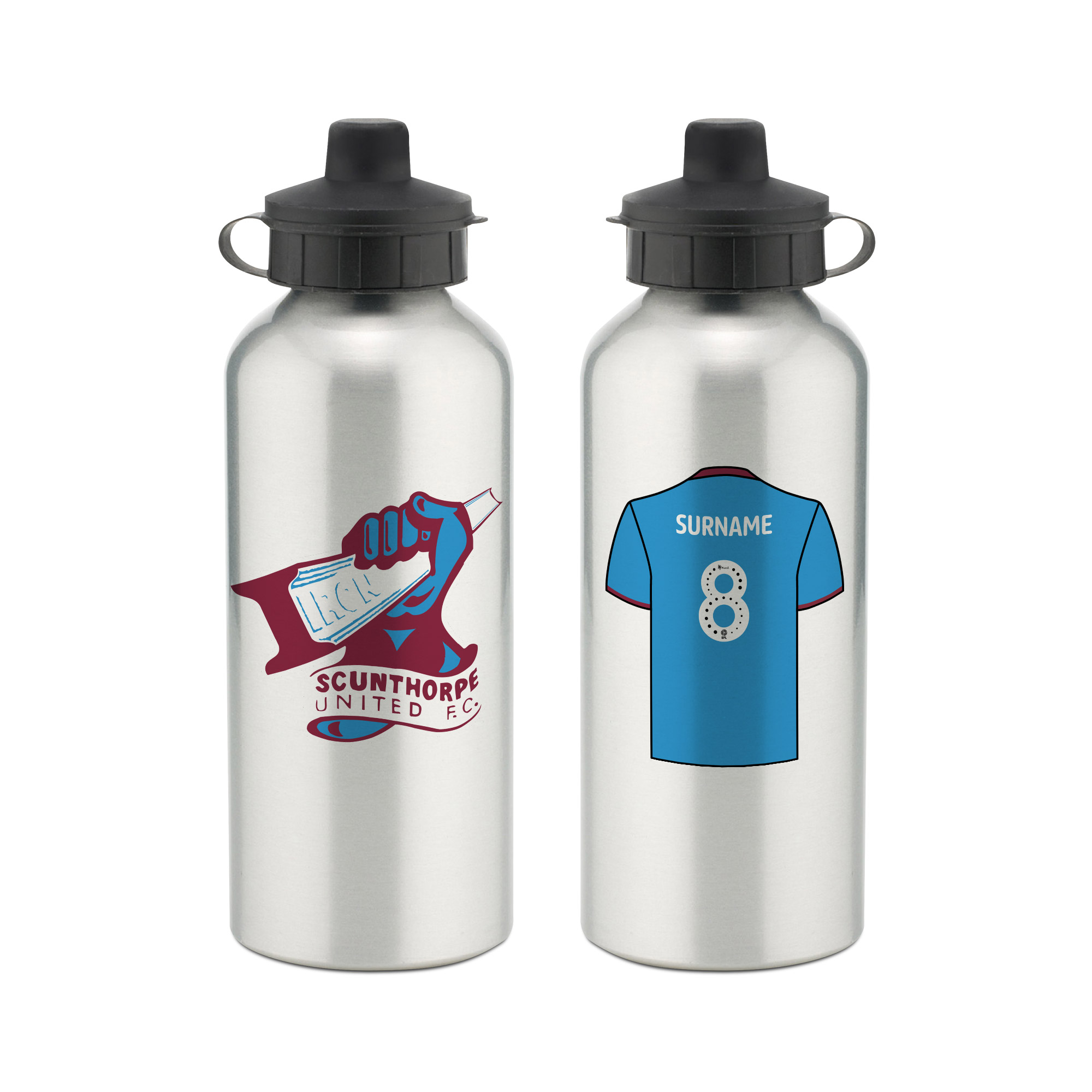 Scunthorpe United FC Aluminium Water Bottle