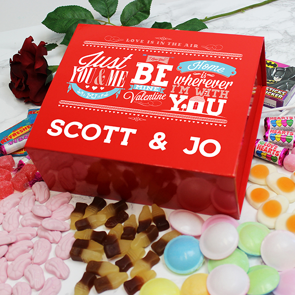 Be My Valentine Deluxe Sweet Box - Red