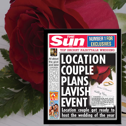 The Sun Engagement News Single Page Print