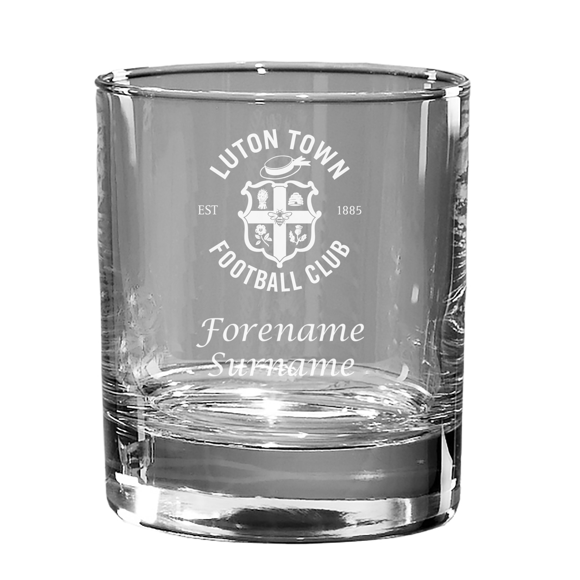 Luton Town FC Personalised Whisky Tumbler