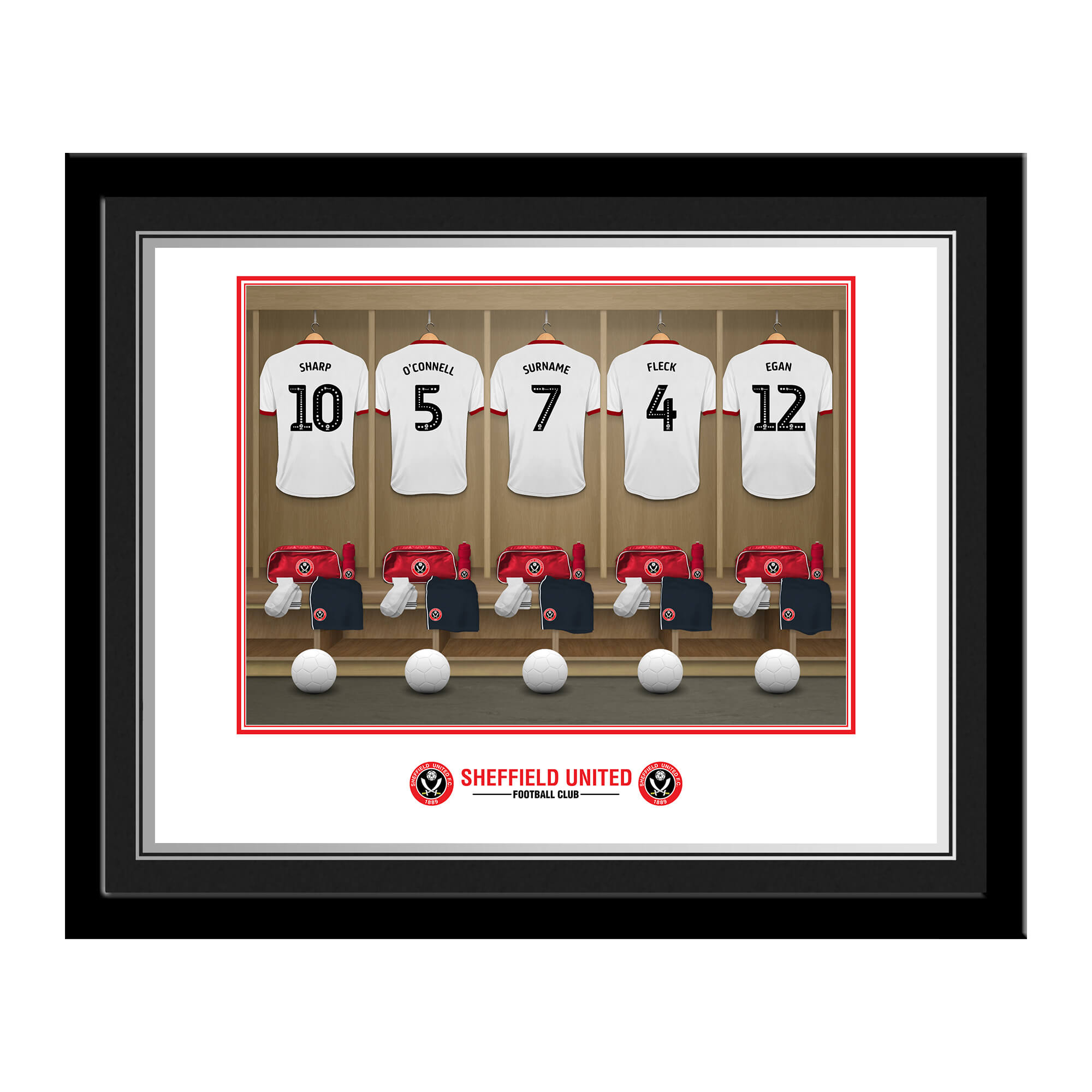 Sheffield United FC Dressing Room Photo Framed