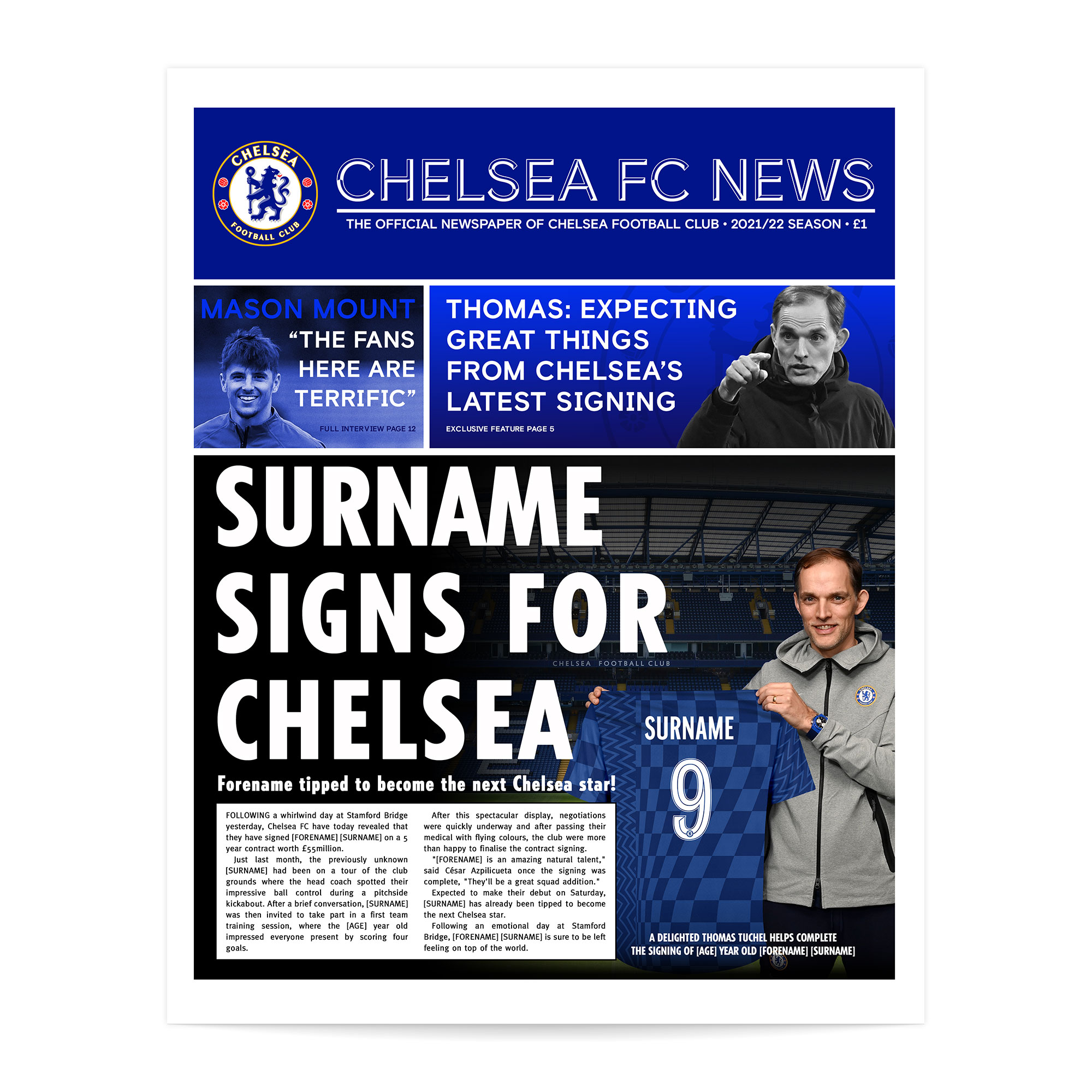 Chelsea FC News Single Page Print