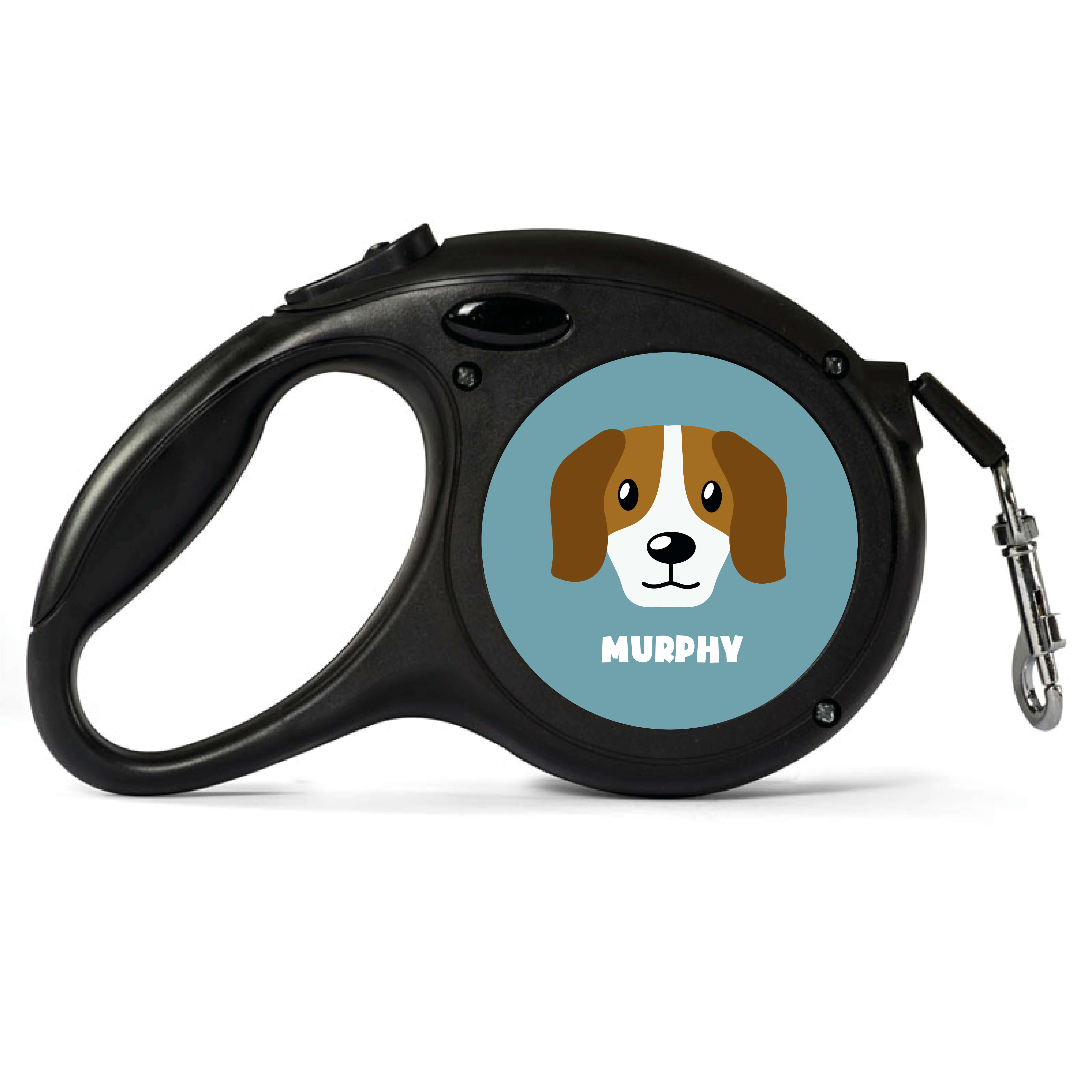 Personalised Beagle Retractable Dog Lead - Small