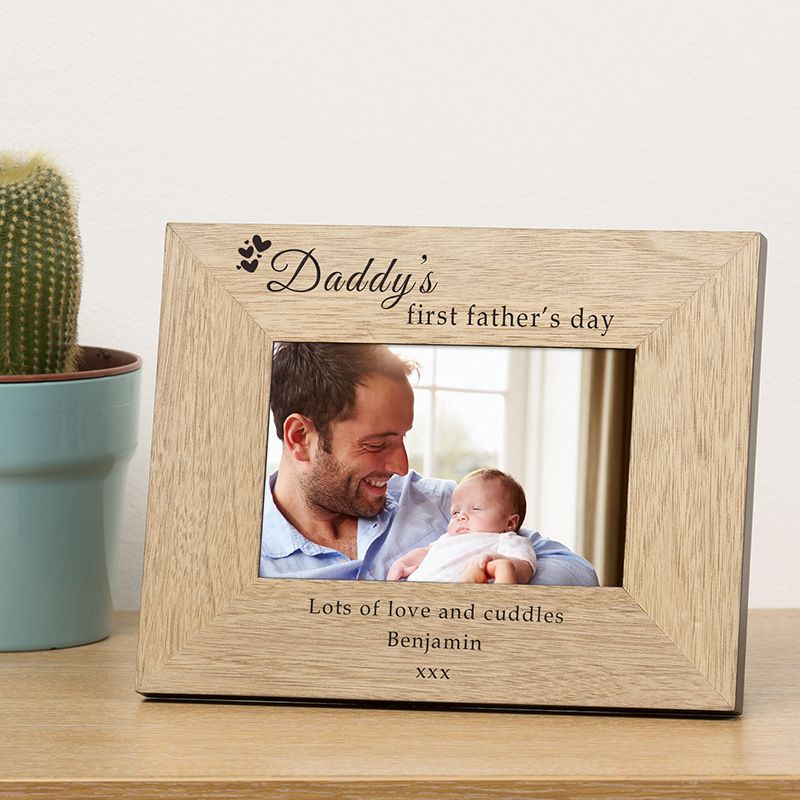 Daddy's First Father's Day Photo Frame
