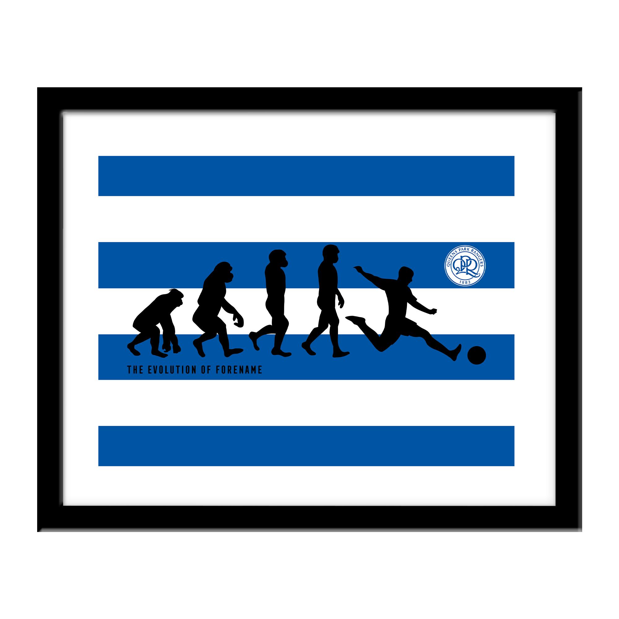 Queens Park Rangers FC Evolution Print