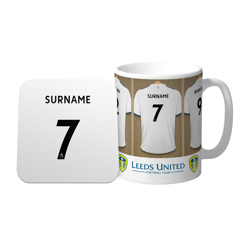 Leeds United FC Dressing Room Mug & Coaster Set