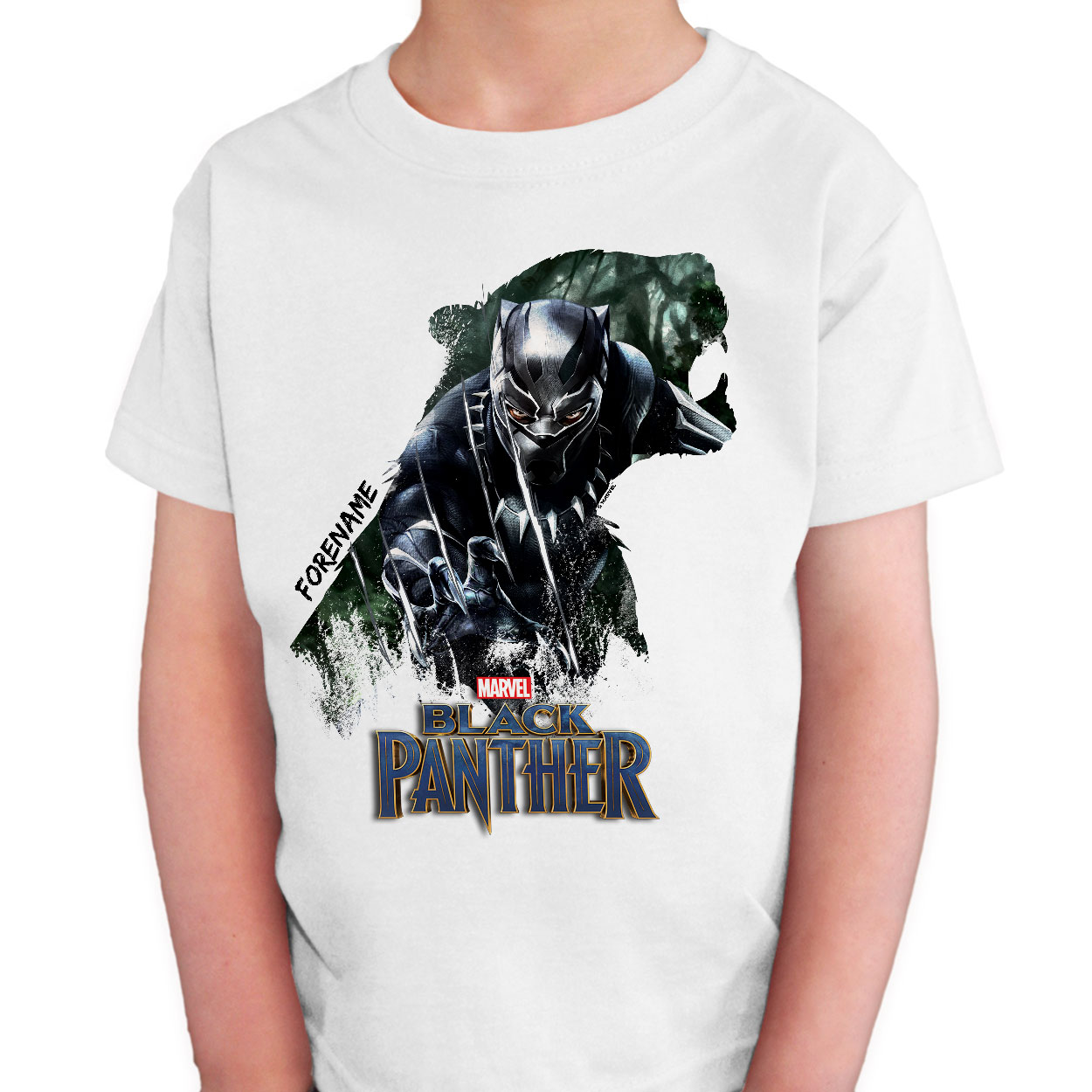 Marvel Black Panther Double Exposure Kids T-Shirt