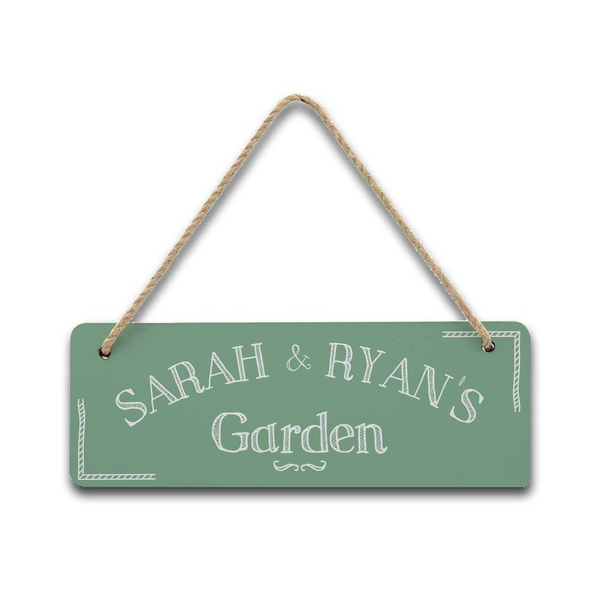 Hanging Garden Sign