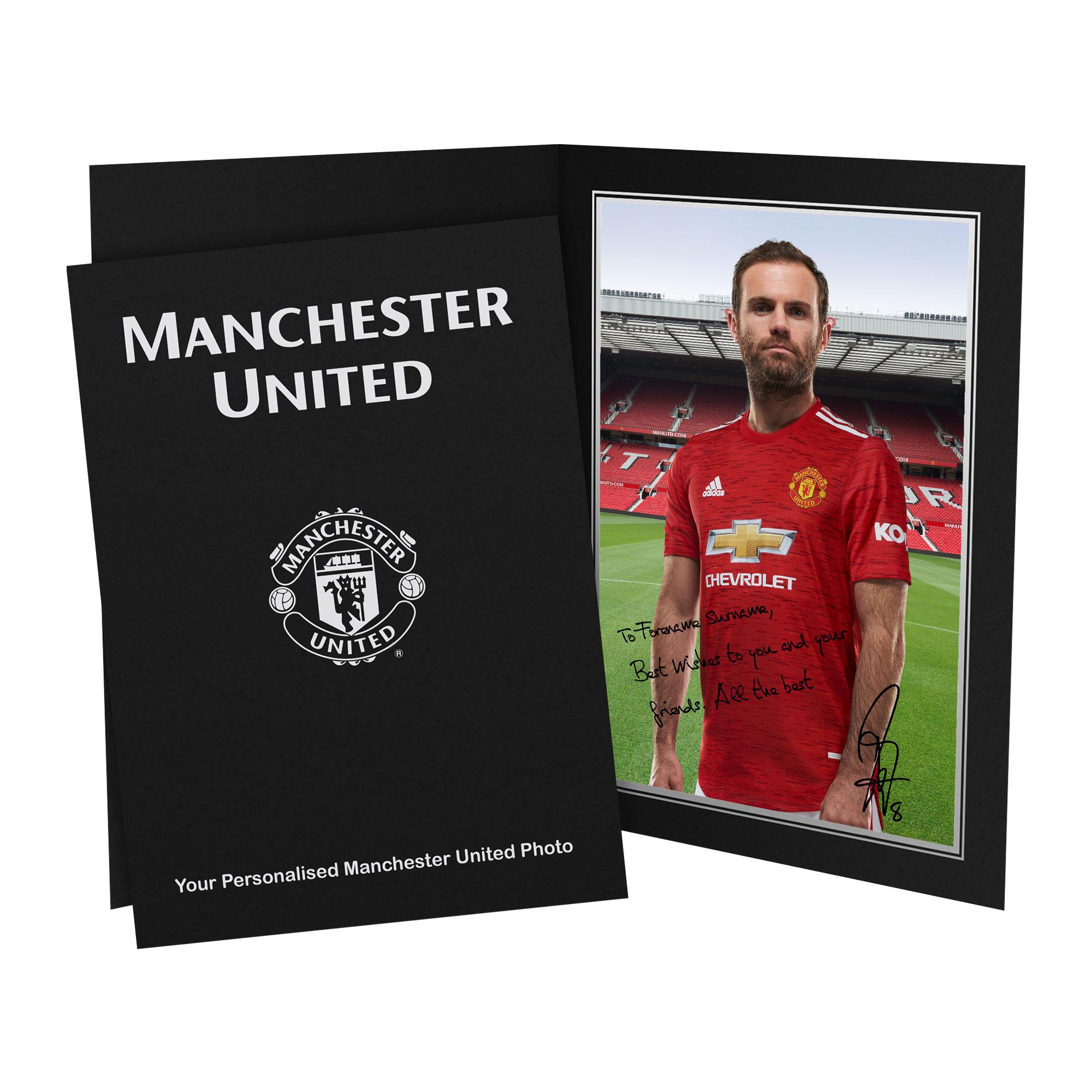 Manchester United FC Mata Autograph Photo Folder
