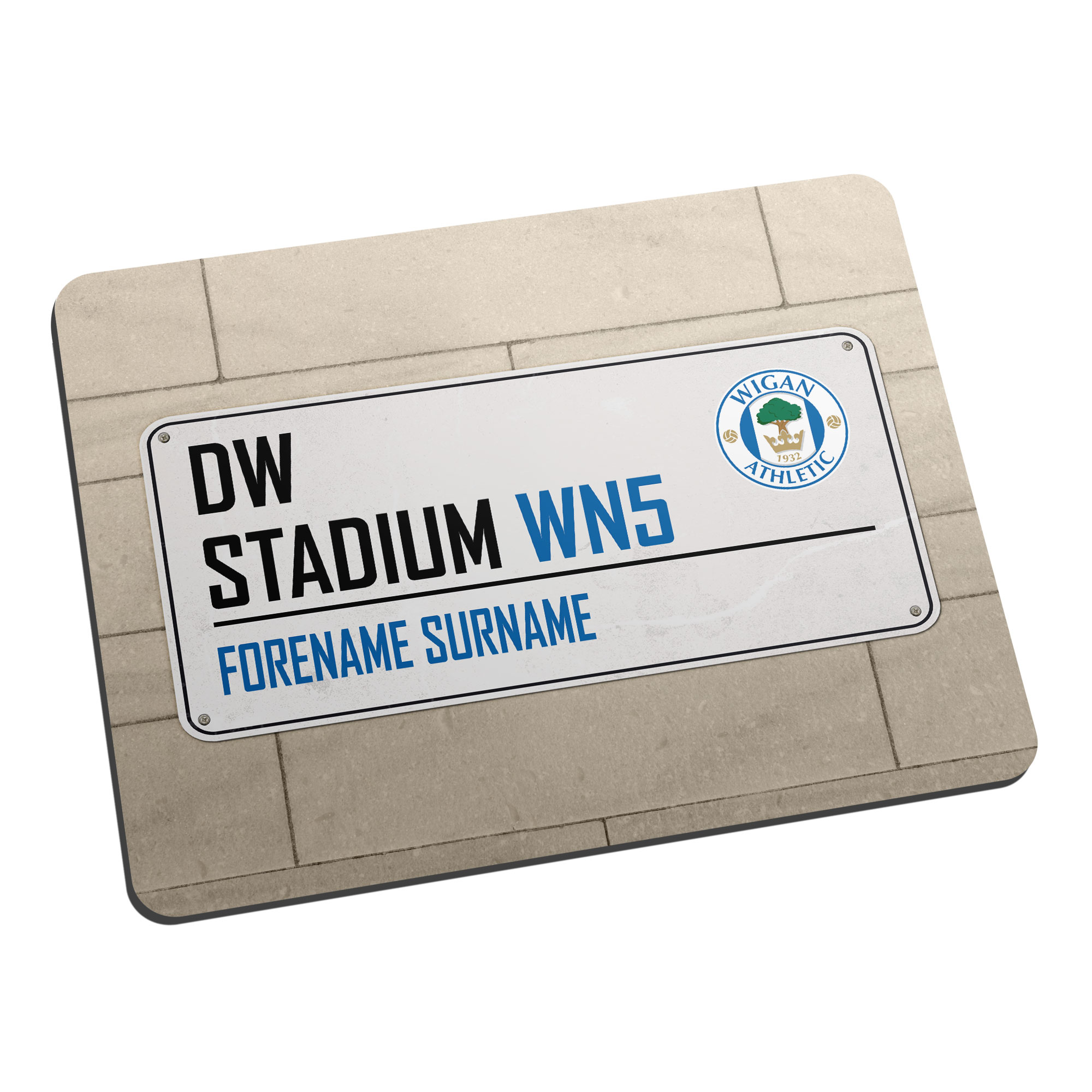 Wigan Athletic FC Street Sign Mouse Mat