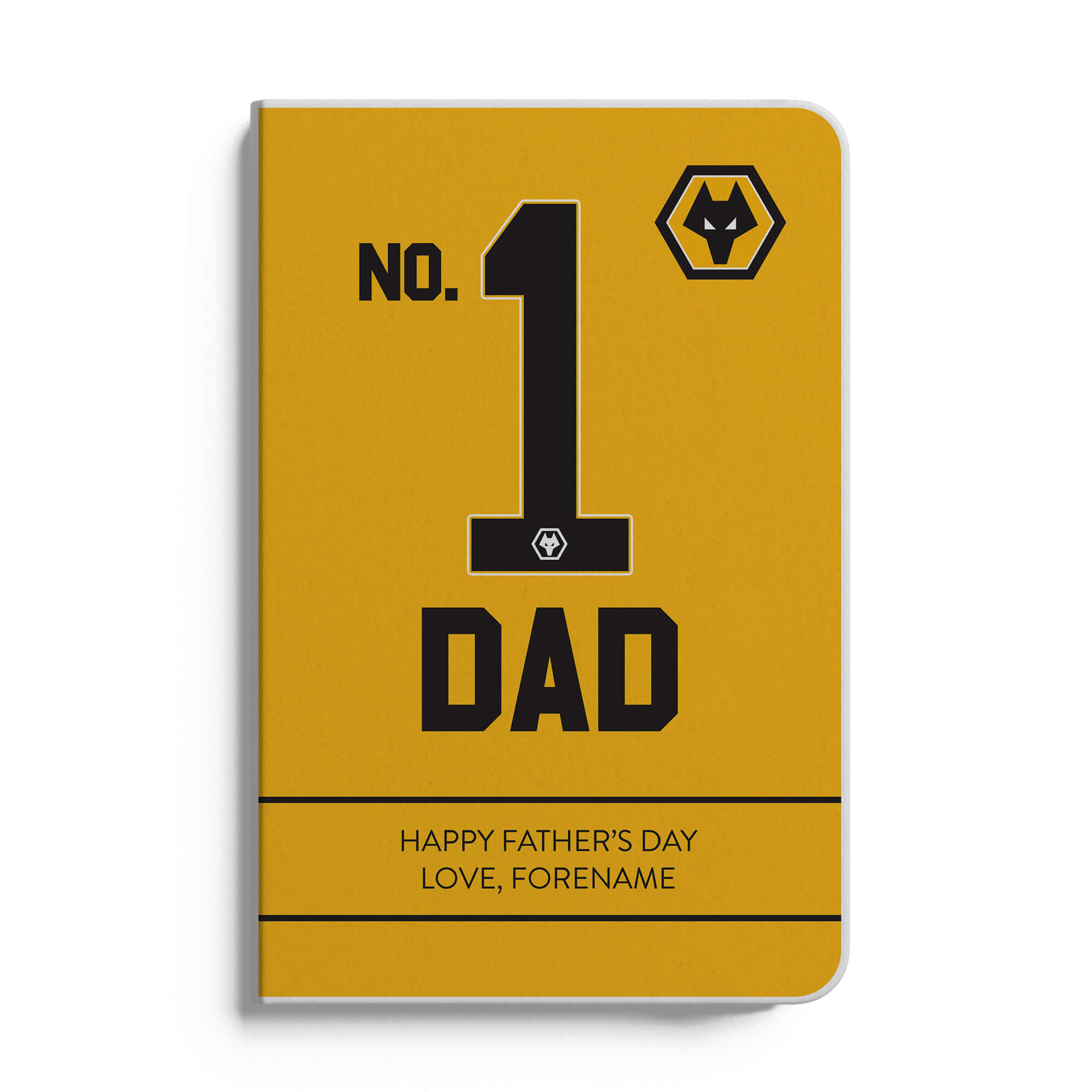 Wolves No.1 Dad A5 White Lined Notebook