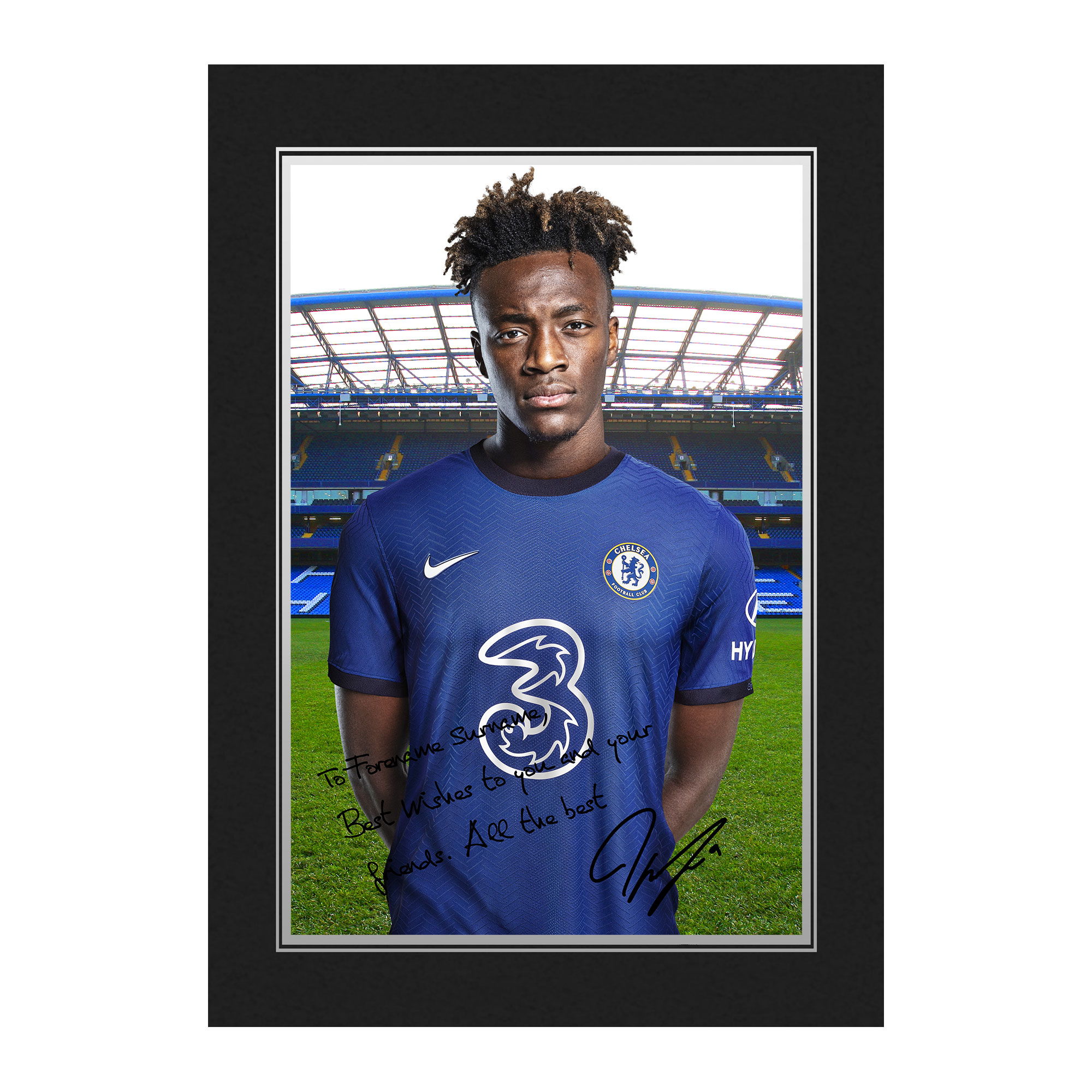 Chelsea FC Abraham Autograph Photo Folder