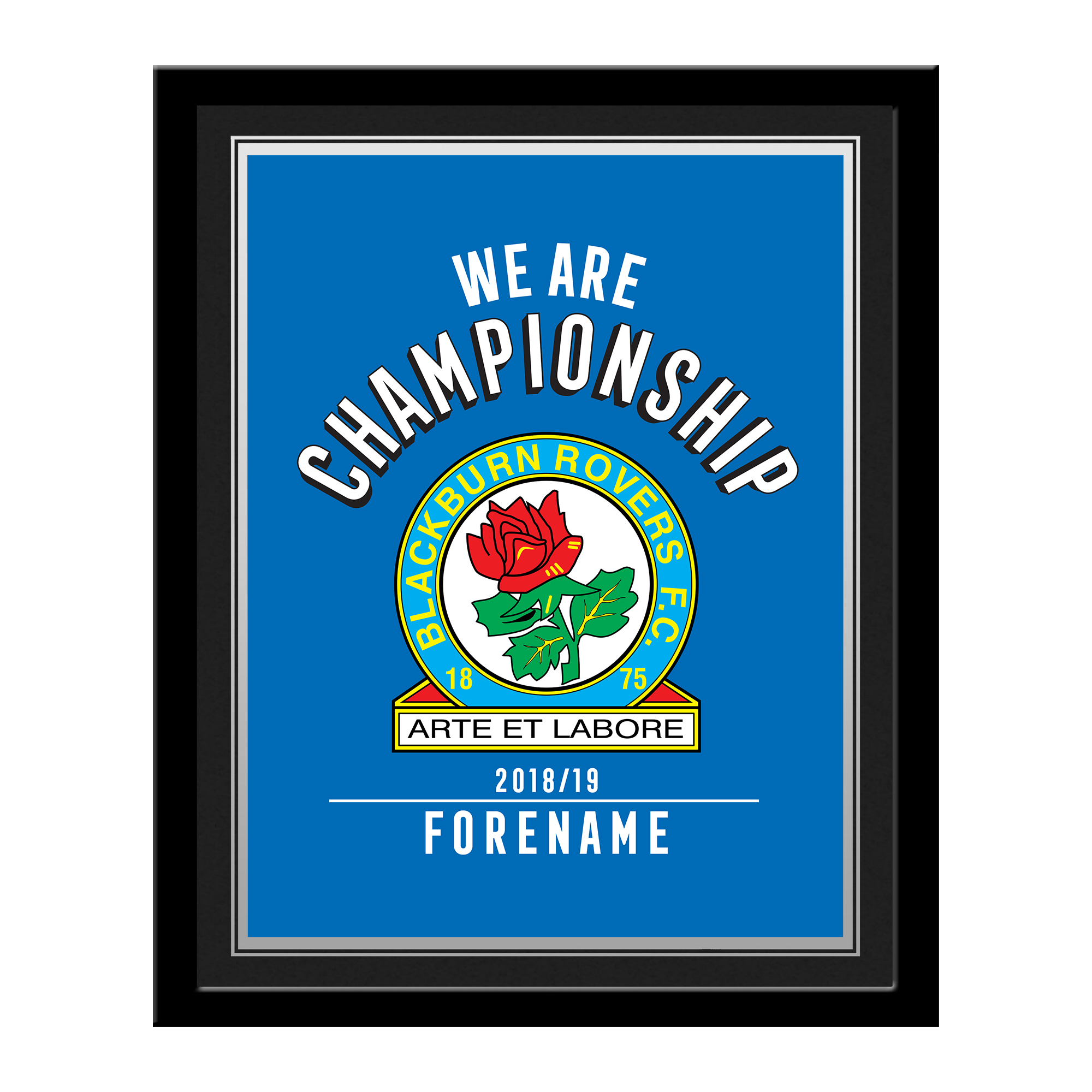 Blackburn Rovers FC We Are Championship Photo Framed