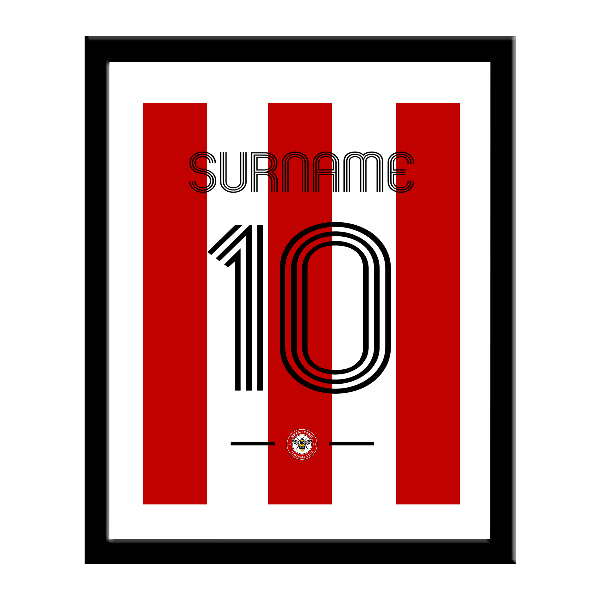 Brentford Retro Shirt Print