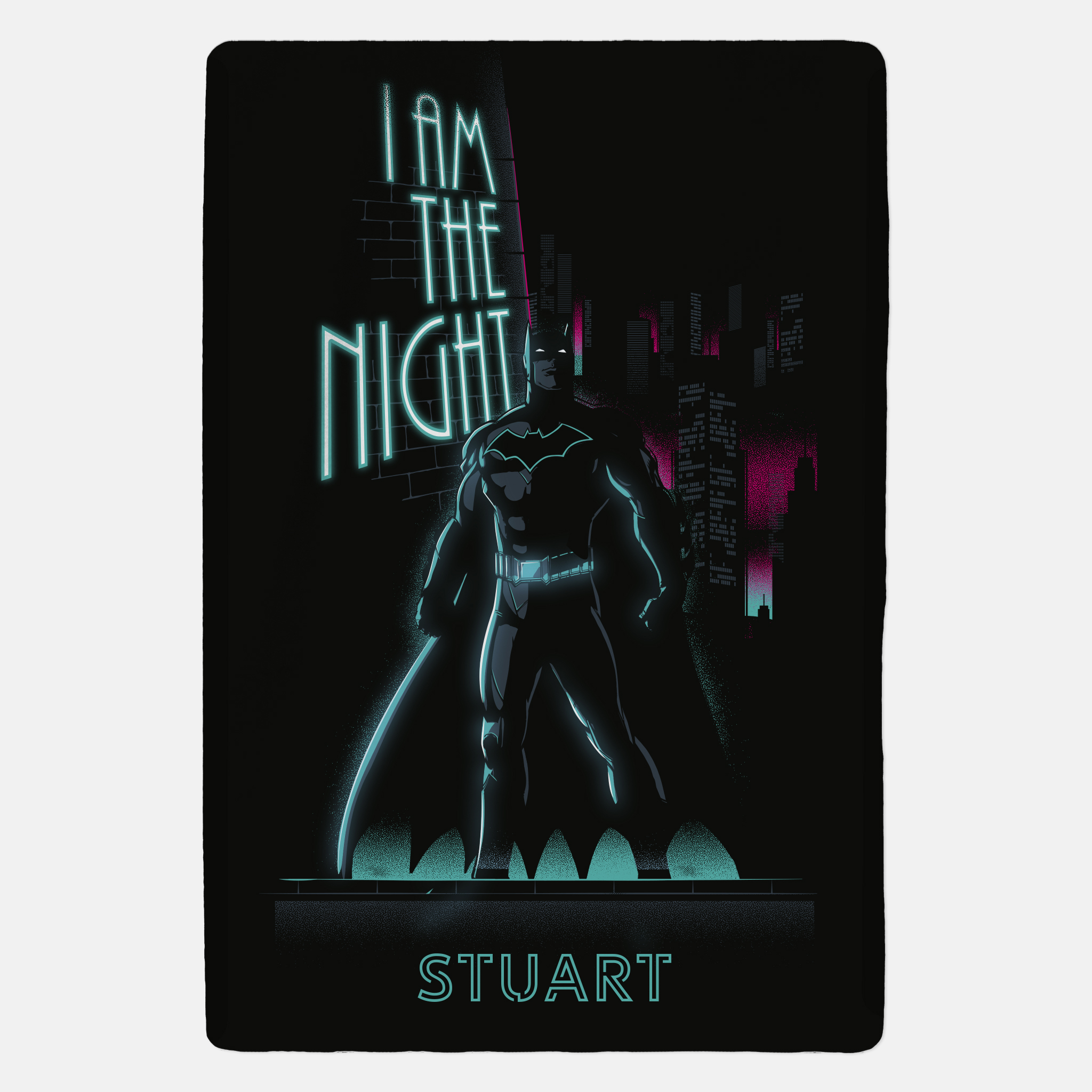 Batman™ Personalised Blanket - I Am The Night