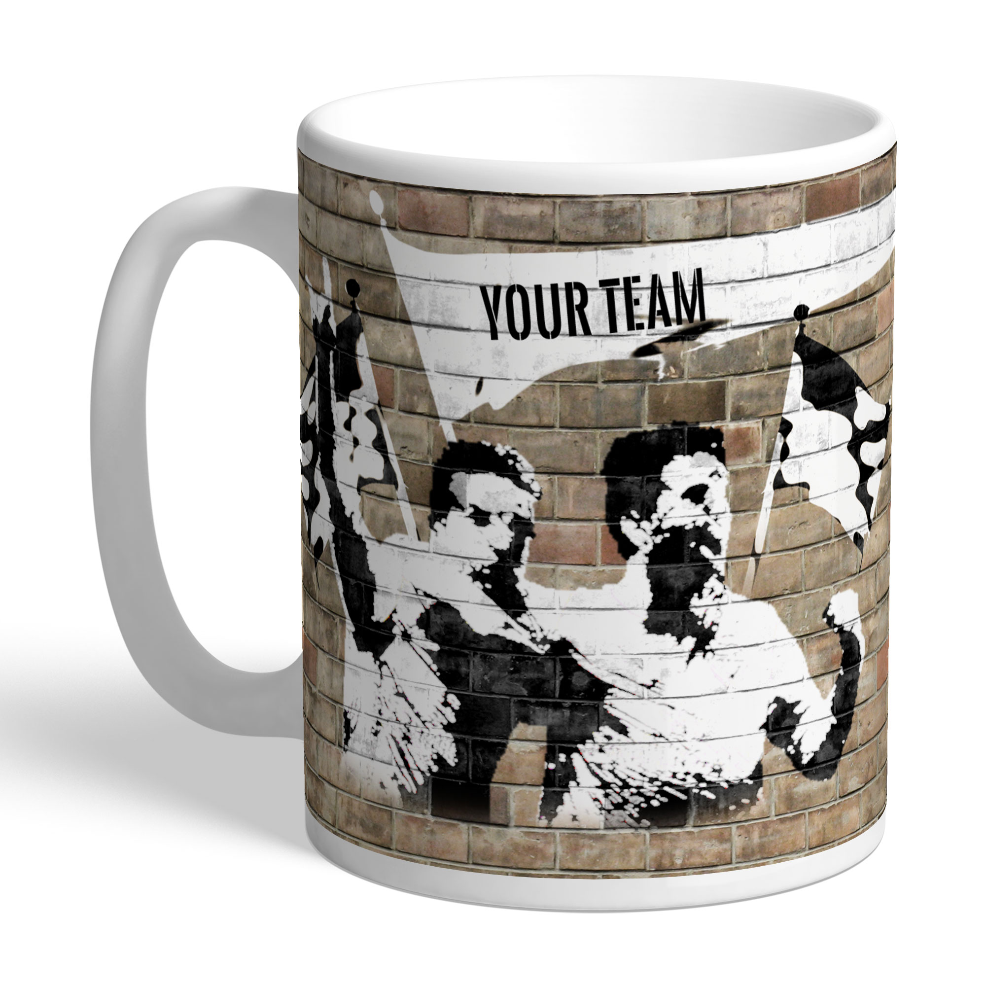 Graffiti Celebration Football Mug