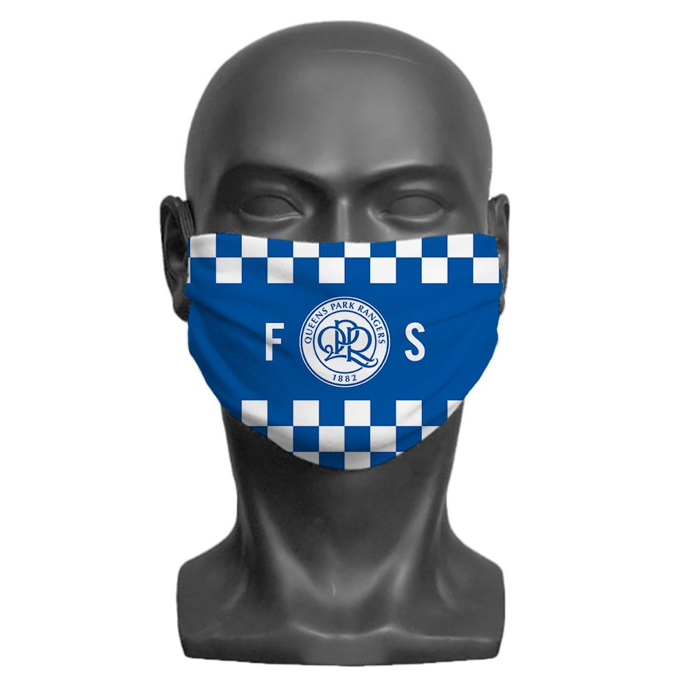 Queens Park Rangers FC Initials Adult Face Mask (Medium)