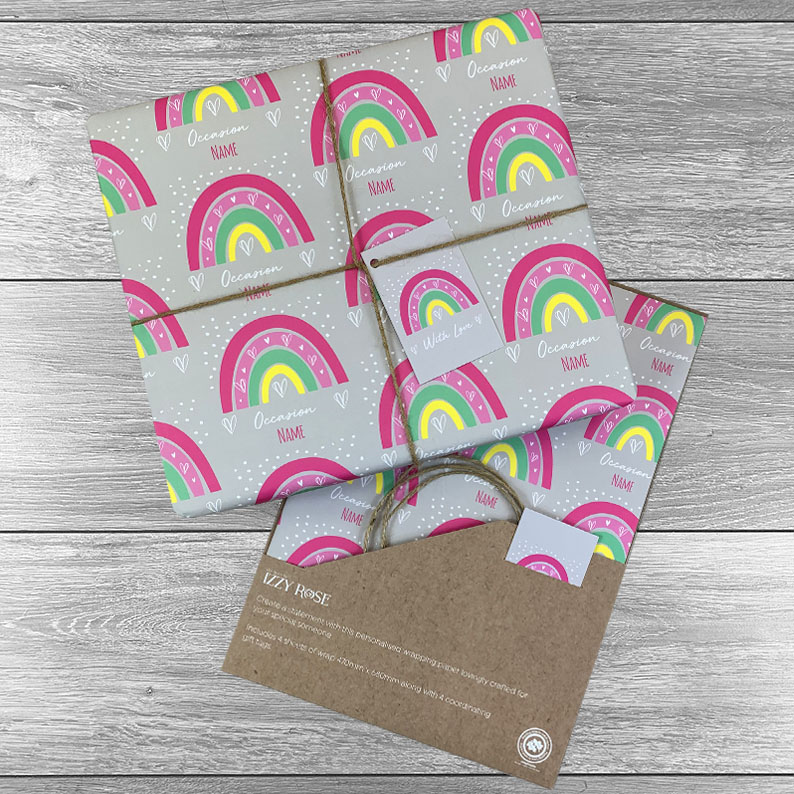 Rainbow Bright Any Occasion Giftwrap - Multiple colour choices