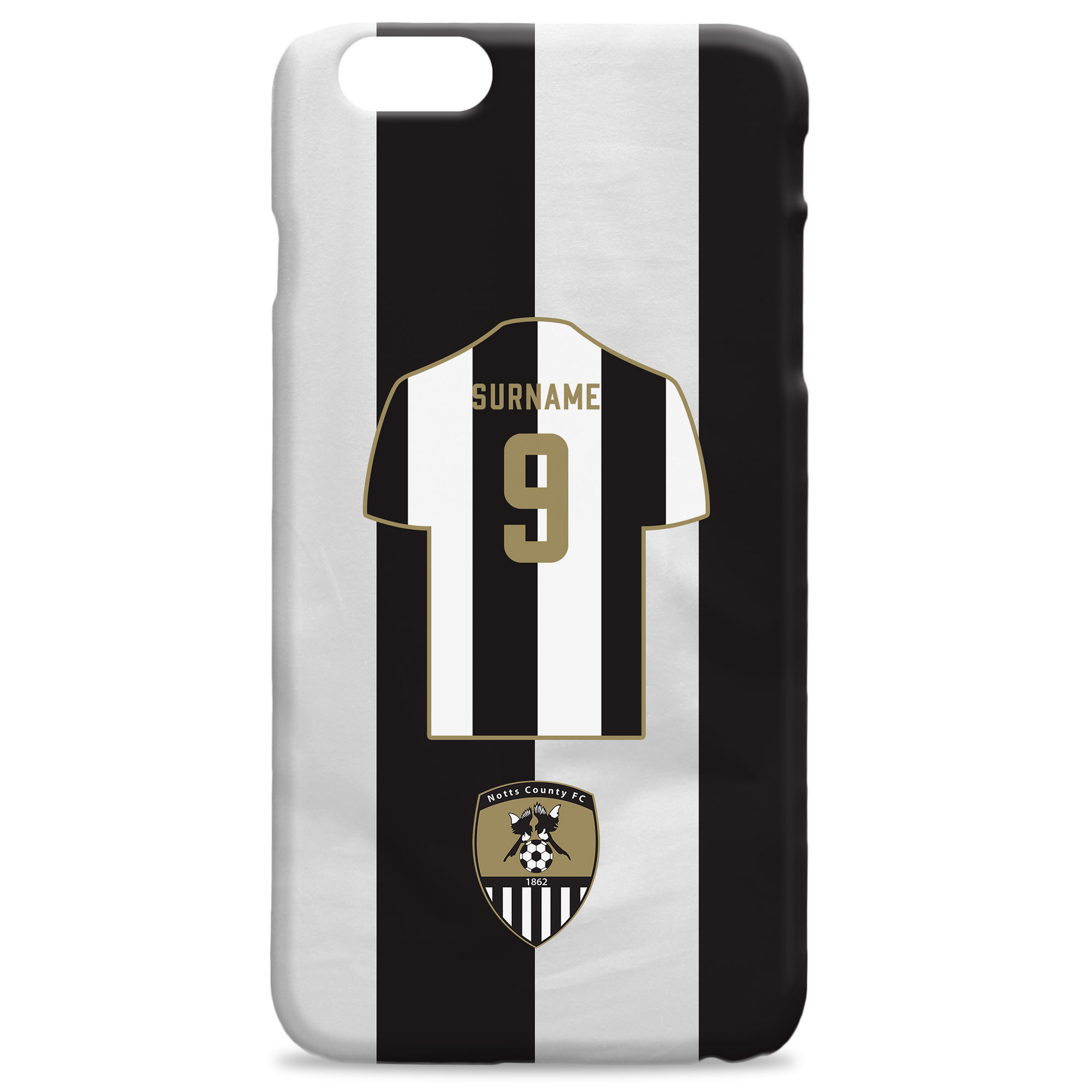 Notts County FC Shirt Hard Back Phone Case