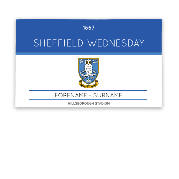 Sheffield Wednesday FC Minimal Ticket 5ft x 3ft Banner