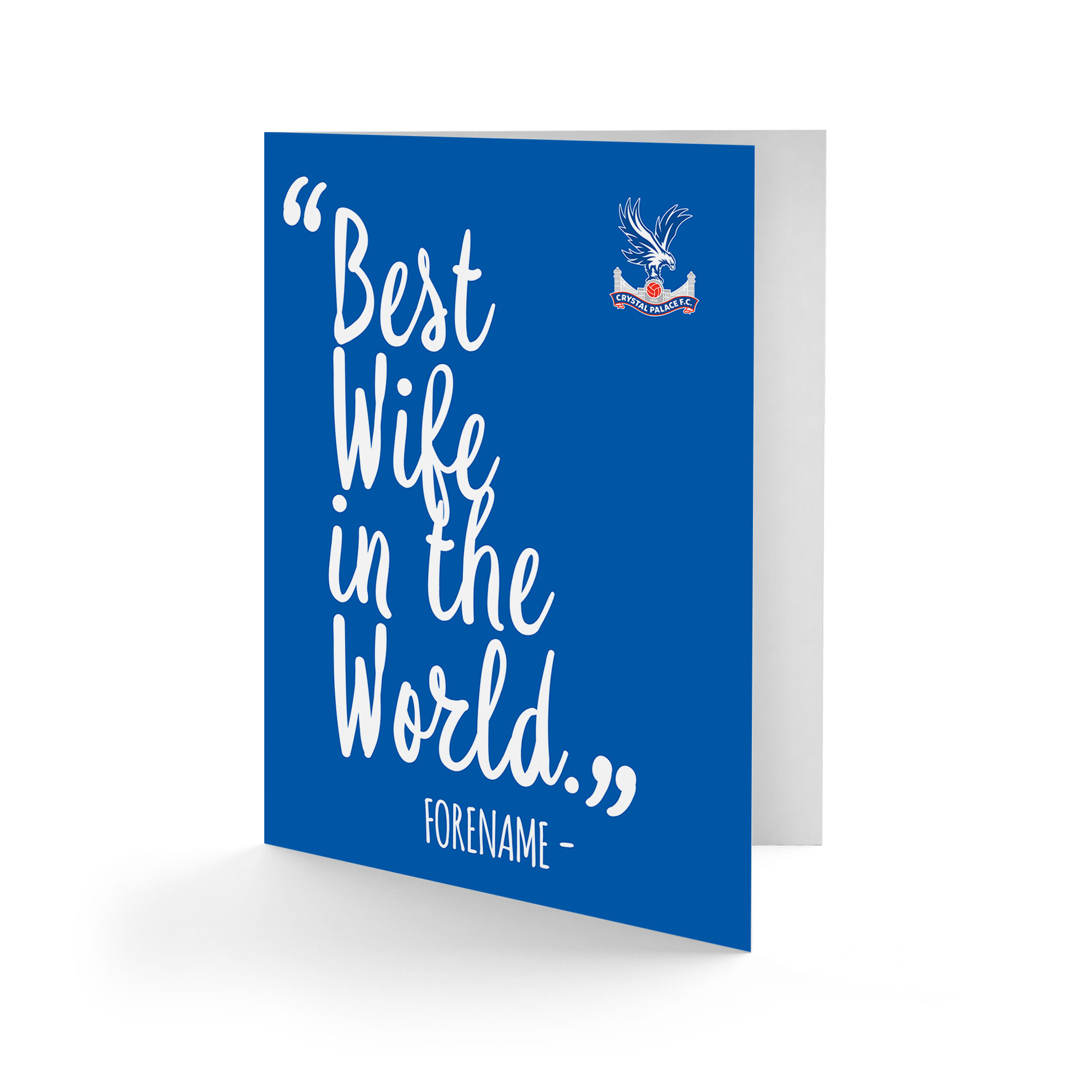 Crystal Palace FC Best Wife In The World Card