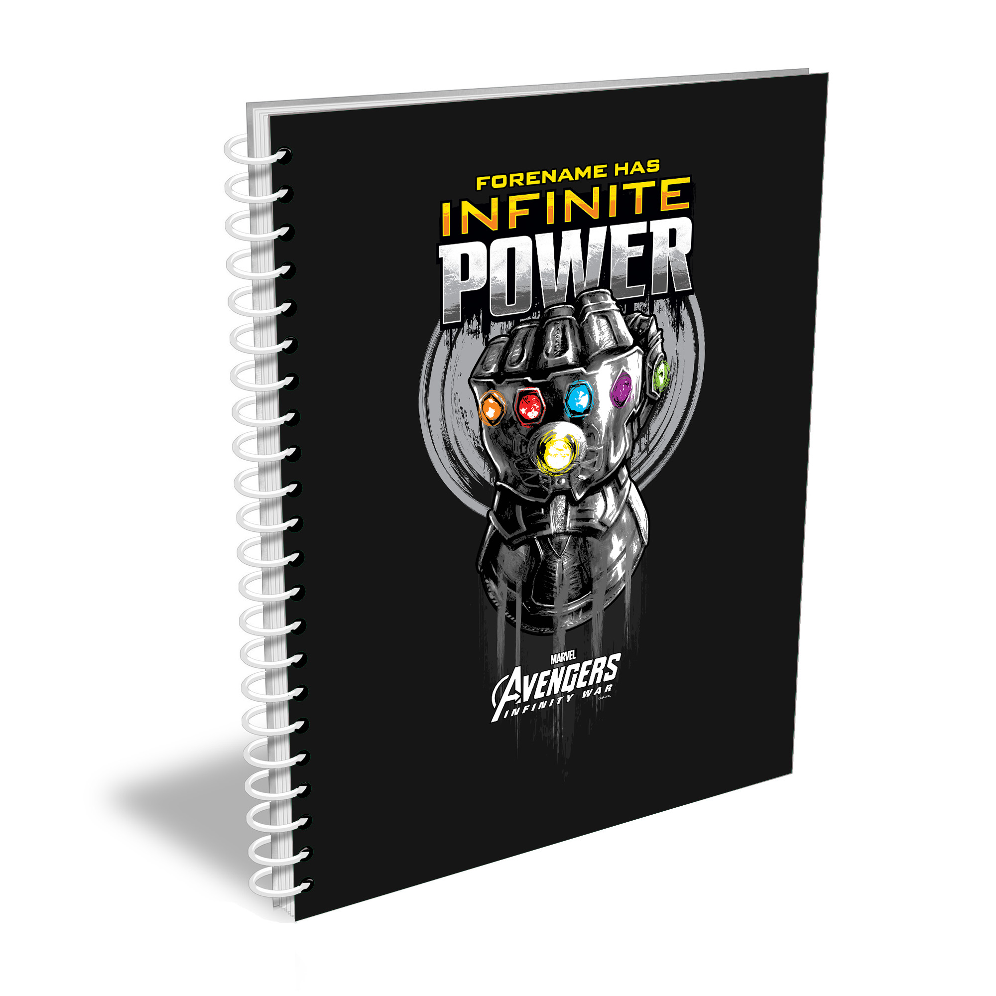 Marvel Infinity War Gauntlet Infinite Power A5 Notebook